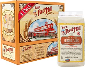 Bob's Red Mill Super Fine Almond Flour, 16 Ounce Packages (Pack of 4)