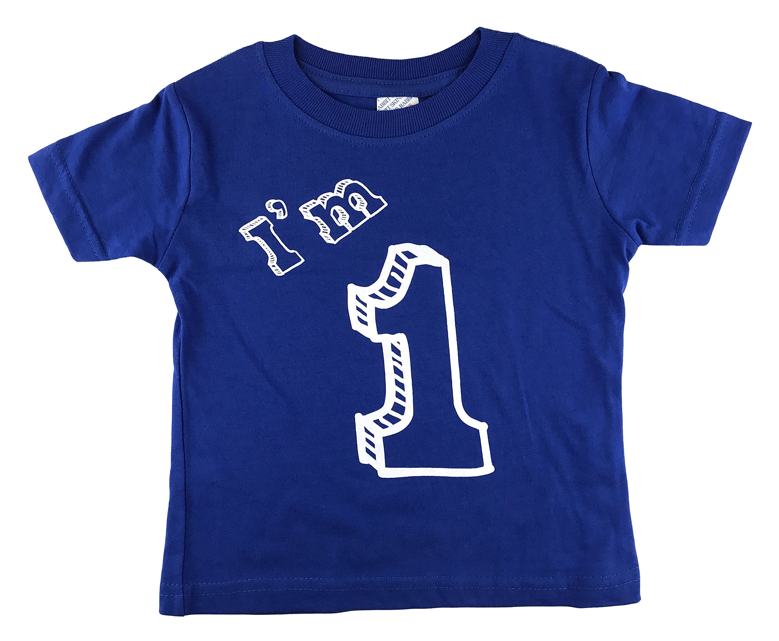 I'm 1 T-Shirt - One Year Old Birthday Party (12 Month, Royal Blue) by how-z-it