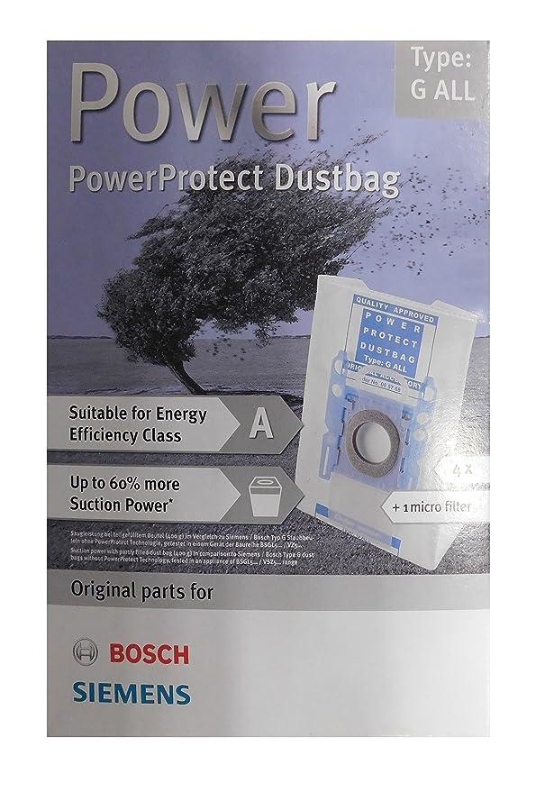 Amazon.com: Siemens PowerProtect Staubbeutel VZ 41 FG todos ...