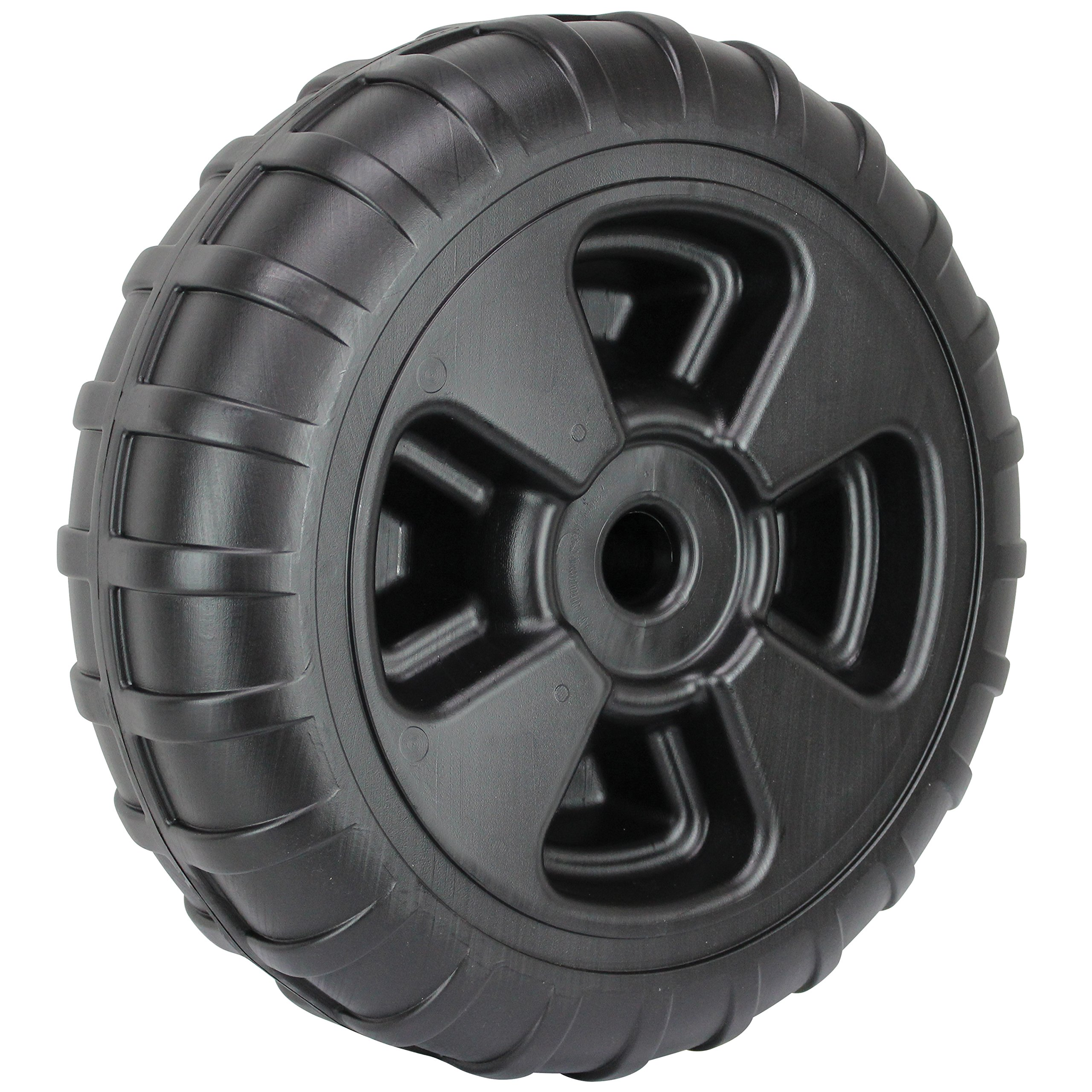 Extreme Max 3005.3729 24'' Heavy-Duty Plastic Roll-In Dock / Boat Lift Wheel by Extreme Max