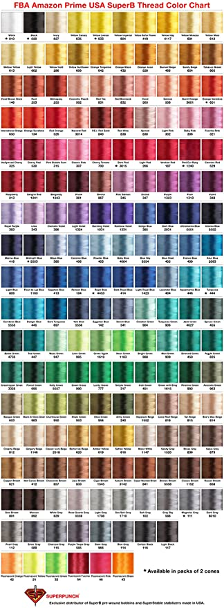 Embroidex Thread Color Chart Ibovnathandedecker