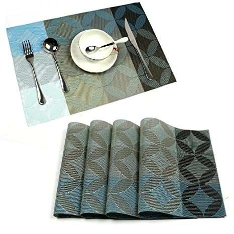 Uartlines 4 Pcs Placemats de PVC, comedor de aislamiento ...