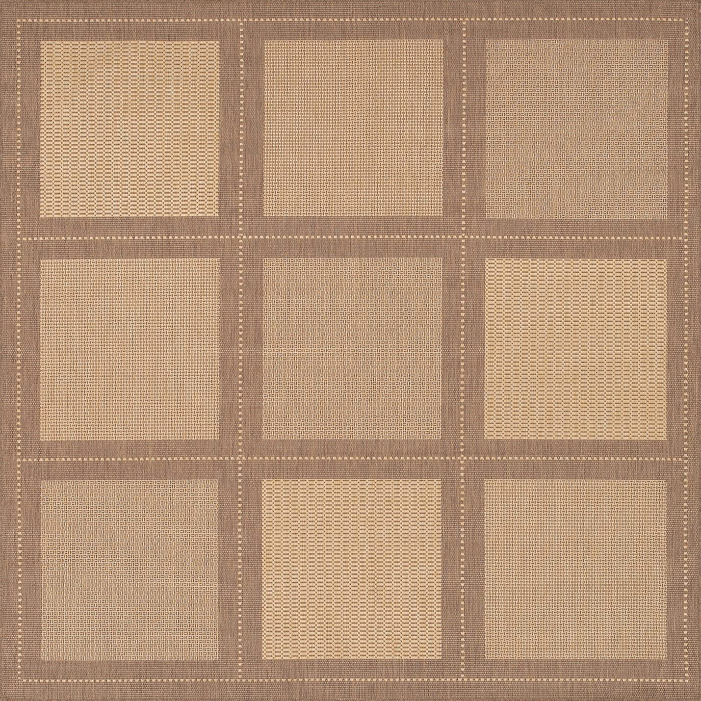 Couristan Recife Rug Summit Natural-Cocoa Rug 90in Sq