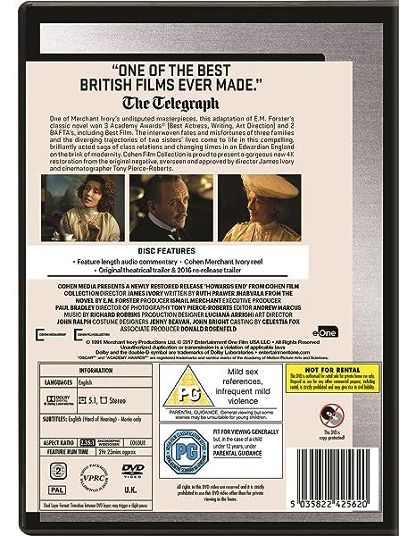 Howards End [Reino Unido] [DVD]: Amazon.es: Helena Carter, Joseph Bennett, Prunella Scales, James Wilby, Nicola Duffett, Adrian Magenty, Jo Kendall, ...
