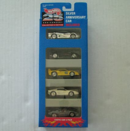 Hot Wheels 25th Anniversary Collectors Edition Exotic Car 5 Pack ...