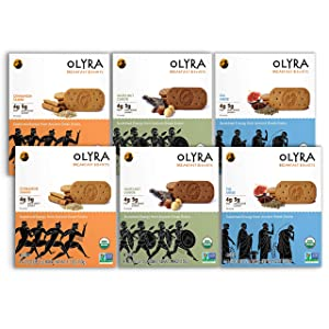 OLYRA Organic Breakfast Biscuits Variety-Low Sugar High Fiber Plant Based Protein Cookies (6 Boxes)