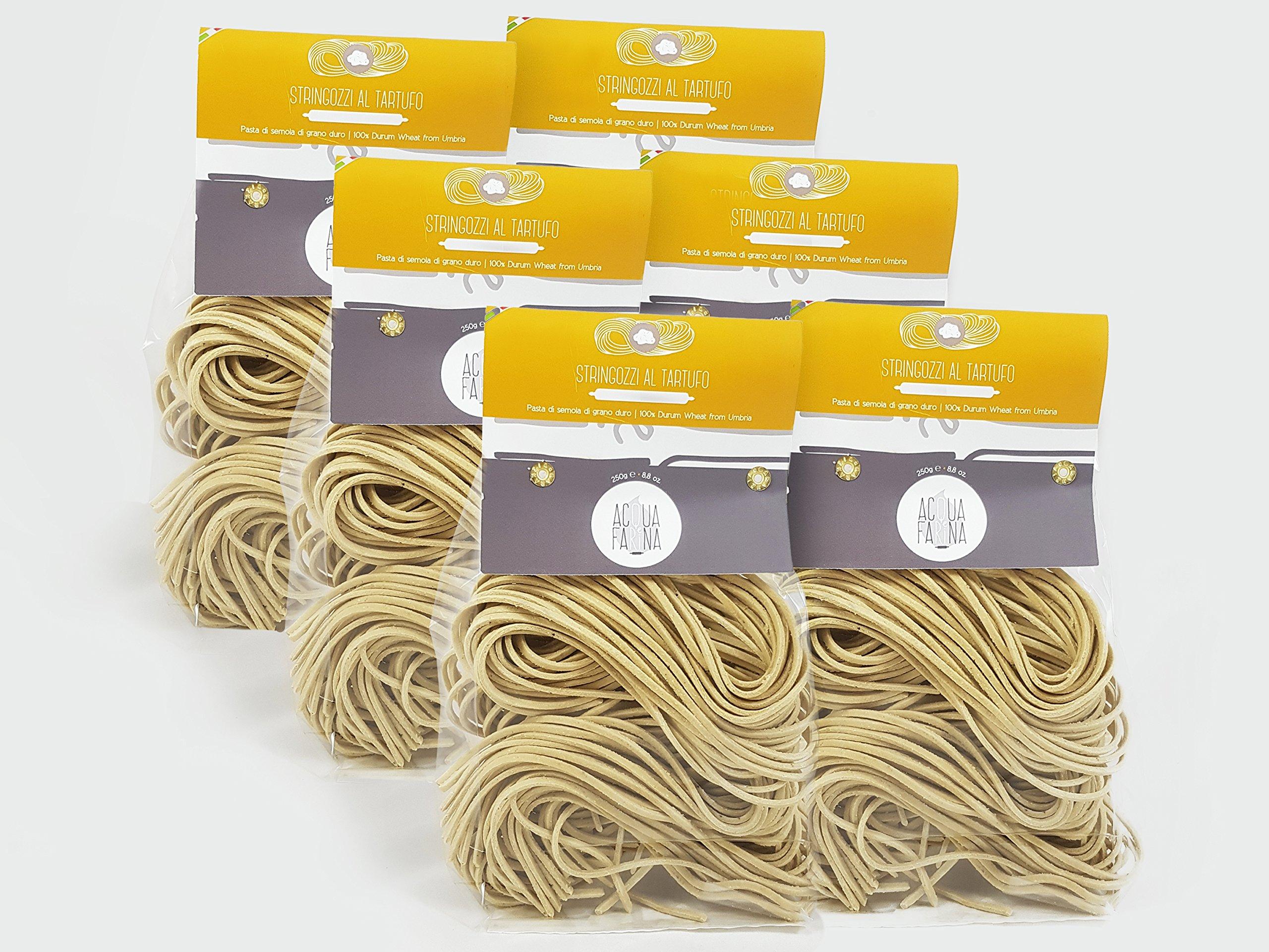 Stringozzi al tartufo 8.8 oz pack of 6 truffle Flavor by Acqua e Farina