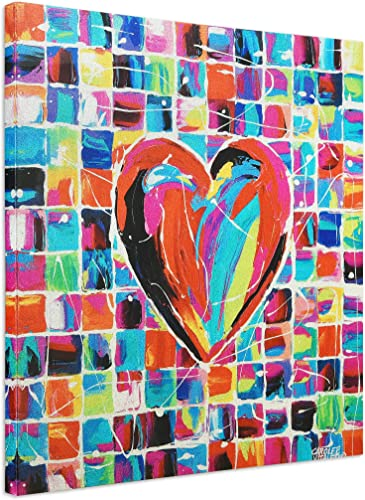 Empire Art Direct Colorful Heart Wall