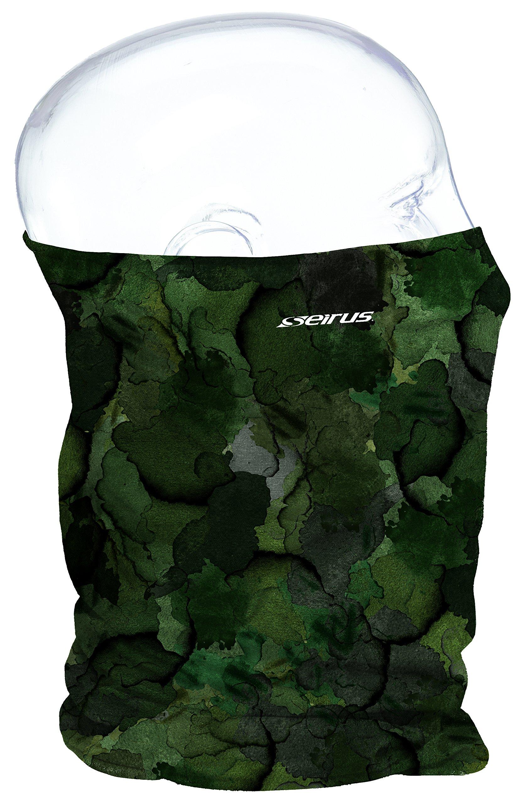 Seirus Innovation Snowthing Uv Sun Protection Plus Fleece Lining Neck Gaiter, Olive, One Size