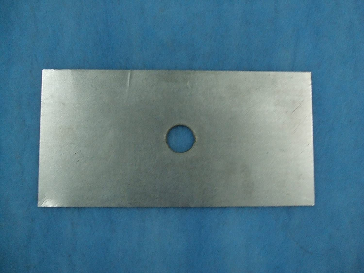 1000 x 400 Register plate with hole 135mm dia to suit 5' dia liner, no fixing brackets Ventilation Centre