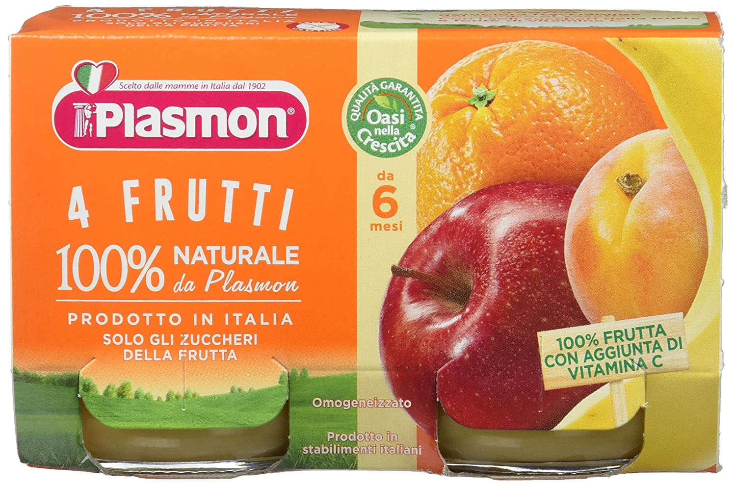 Plasmon 4 Fruits meal puree (2x104g)