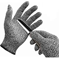 WISLIFE Cut Resistant Gloves Level 5 Protection Food Grade EN388 Certified Safety Gloves for Hand Protection, Kitchen Glove for Cutting and Slicing,Designed for Children and Ladies 1 Pair, Small, Grey