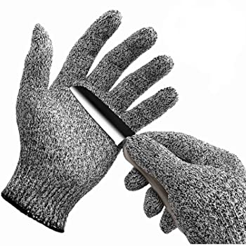 1pair Small Adult Anti Cut Gloves Maximum Kids Cooking Garden Kitchen Protection