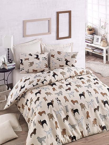 Lujoso juego de 3 unidades de ropa de cama con funda nórdica doble con