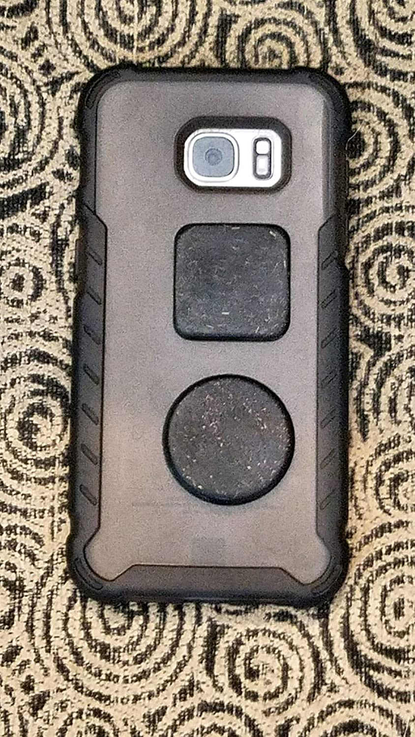 EMF Shield for Cell Phone Case - Orgonite Protection Sticker - Black Sun Orgone - 3 Small Squares and 1 Circle