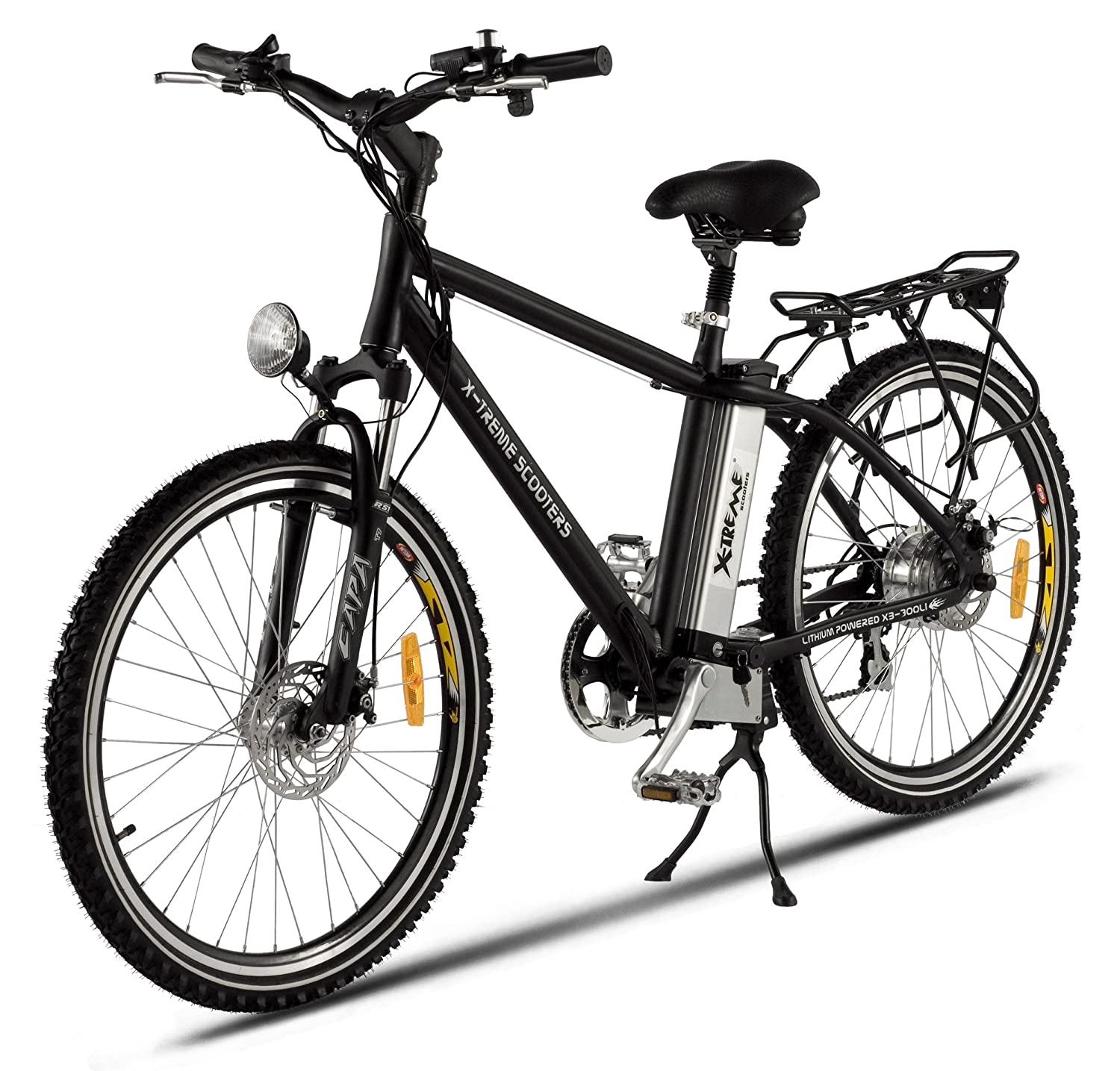 Battery Powered Bicycles >> X Treme Scooters Men S Lithium Electric Powered Mountain Bike