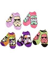 Star Wars Women's 5-Pack Episode 7 No Show Socks