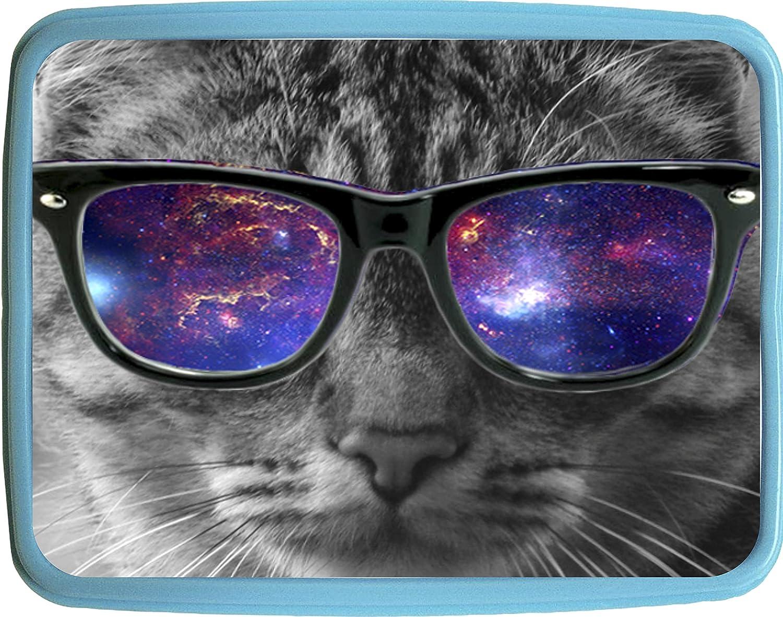 ecee6c30d126 Amazon.com   Kitten in Glasses Blue Girls/Boys Preschool Toddler Backpack &  Lunch Box Set   Kids' Backpacks