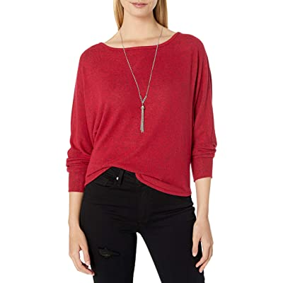 A. Byer Women's Long Sleeve Scoop Neck Top (Junior's): Clothing