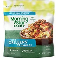 Kellogg's Morningstar Farms Grillers Crumbles – Meat Substitute, Clean Eating Meals, Vegan, 12 oz Bag