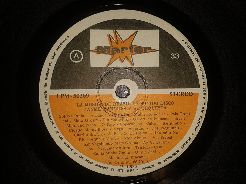 Jayme Marques - The music of Brazil (La musica de Brasil) by Jayme Marques 1980 LP - Amazon.com Music