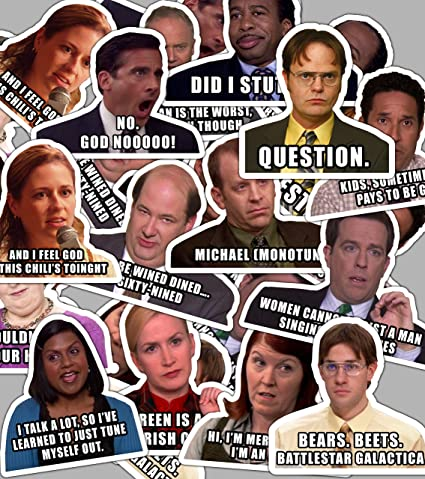 Amazoncom The Office Stickers Sticker Set With Funny Quotes