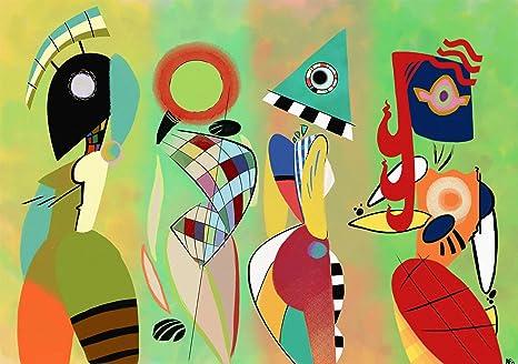 Legendarte p quadro las musas de kandinsky stampa digitale su
