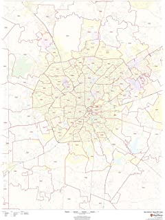 Greater Houston Area Zip Code Map.Amazon Com Zip Code Wall Map Of San Antonio Tx Zip Code Map