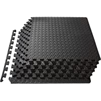 ProSource Puzzle Exercise Mat 13 mm, EVA Foam Interlocking Tiles Protective Flooring for Gym Equipment and Cushion for…