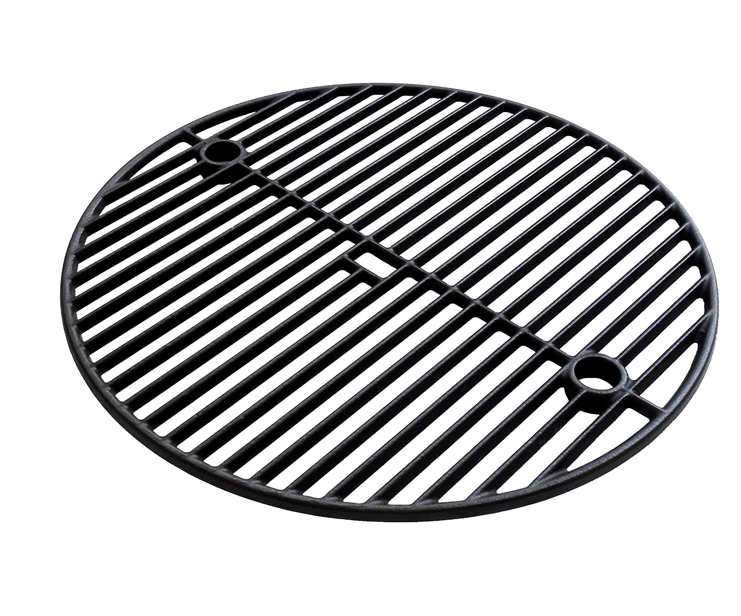 TWO LEVEL Premium Cast Iron Cooking Grate 18-3/16 for Large Big Green Egg, Vision Grills VGKSS-CC2 Classic Kamado Charcoal Grill and Broil King Keg 4000