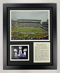 Legends Never Die Oakland Raiders Stadium- The Black Hole Collectible | Framed Photo Collage Wall Art Decor - 12