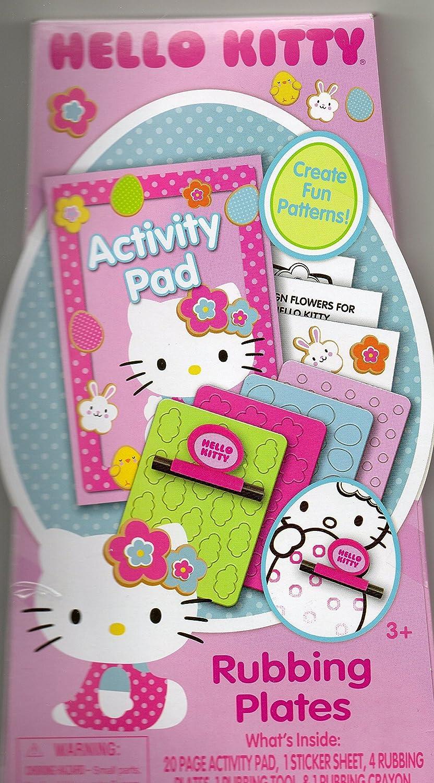 Hello Kitty Activity Pad and Rubbing Plates Tara Toy Company 4336951197