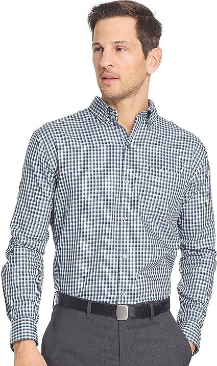Van Heusen Mens Big and Tall Long Sleeve Check Premium Non Iron Shirt