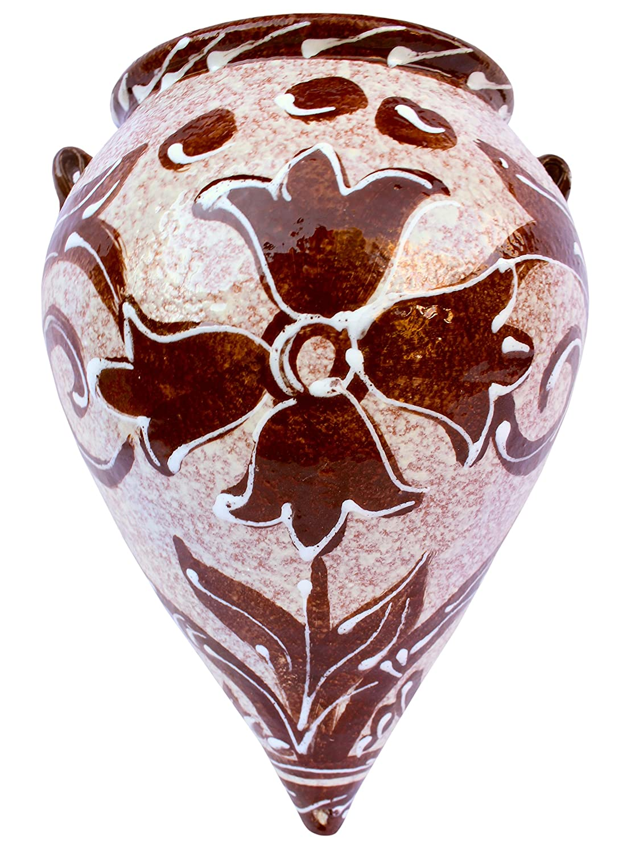 Cactus Canyon Ceramics Hand-Painted Spanish Orza Wall Flower Pot, Spanish Cafe