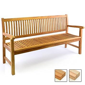 Divero 3 Sitzer Bank Holzbank Gartenbank Sitzbank 180 Cm