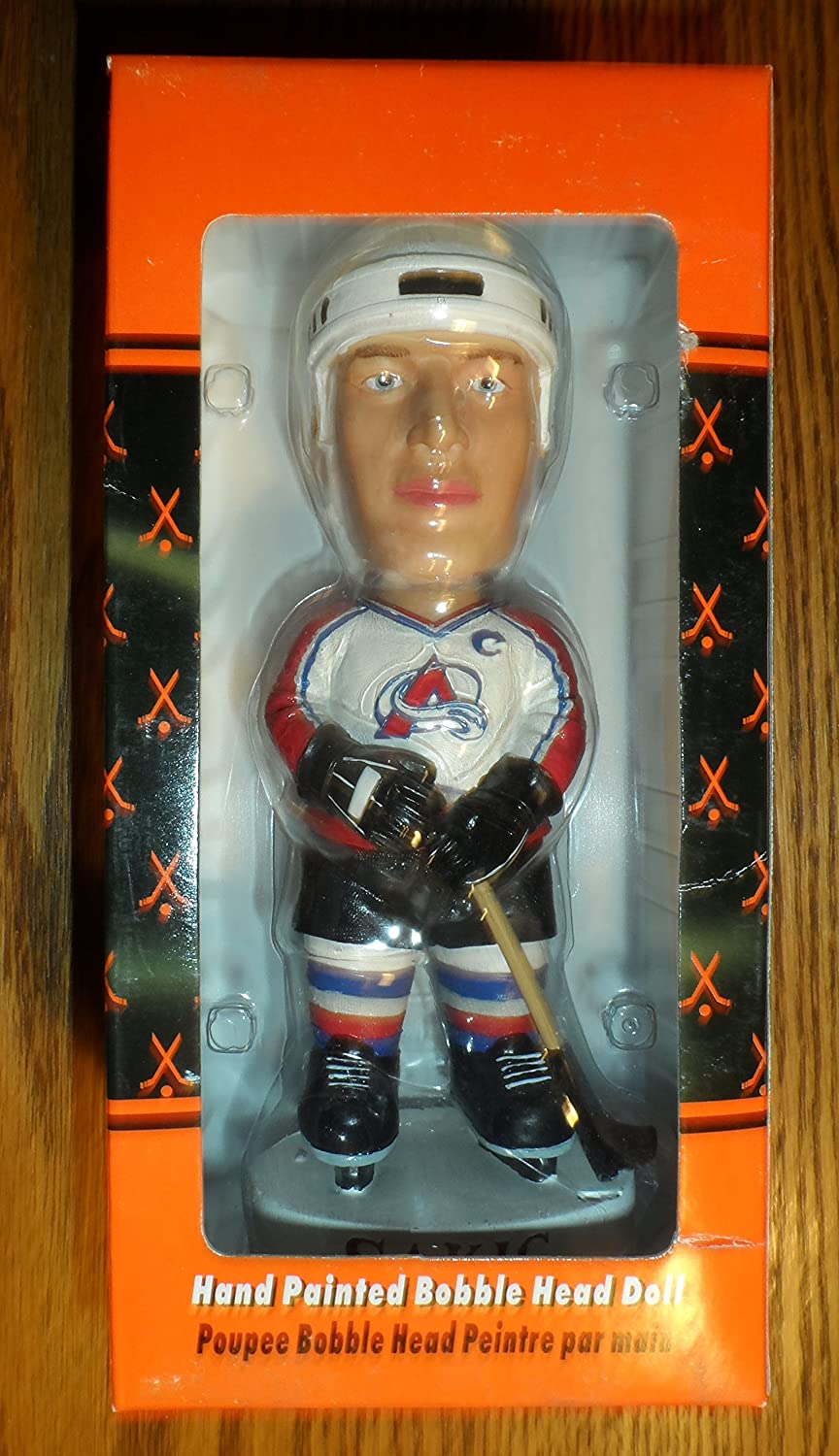 ... Bobble Dobbles Joe Sakic Colorado Avalanche Bobblehead - White Jersey  at Amazons Sports Collectibles Store ... efa1f48af