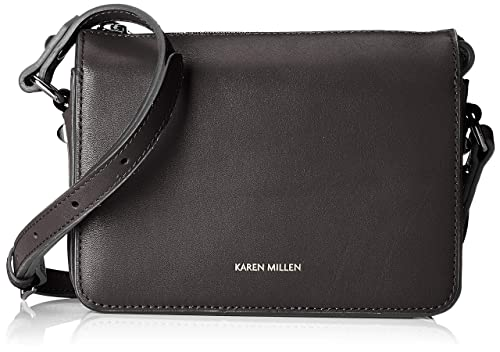 09300a2aab KAREN MILLEN Fashions Limited Womens Compact Crossbody Bag Cross-Body Bag  Black (Black)