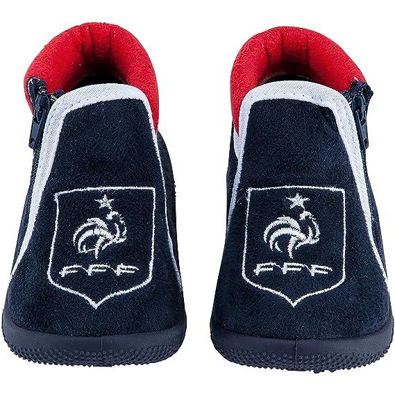 6be5772564502 Equipe de FRANCE de football Chaussons bébé garçon FFF - Collection  Officielle  Amazon.fr  Sports et Loisirs