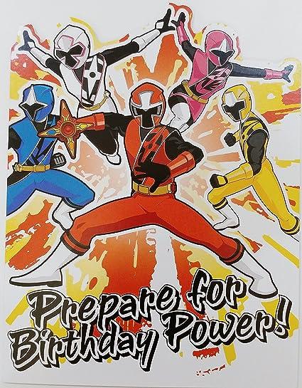 Amazon Prepare For Birthday Power Power Rangers Happy