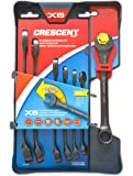 Crescent CX6RWS7 Combination Wrench Set with Ratcheting Open-End and Static Box-End, 7-Piece