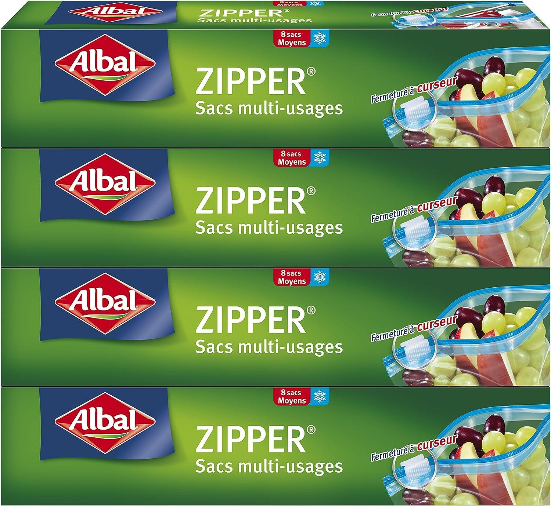 8 bolsas herméticas multiusos Albal Zipper por sólo 13,31€