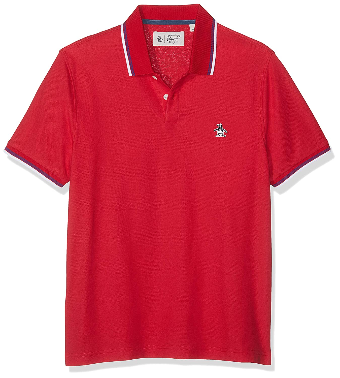Original Penguin Sticker Pete Tipped 56 Polo, Rojo (Lipstick Red ...