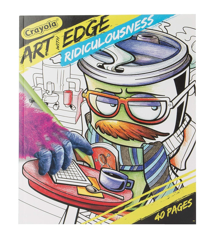 Crayola Art with Edge Ridiculousness Coloring Book plus bonus Art with Edge Color Twist 24 Count Pencils