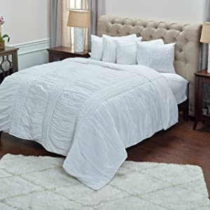 Rizzy Home Carly Quilt, King, White