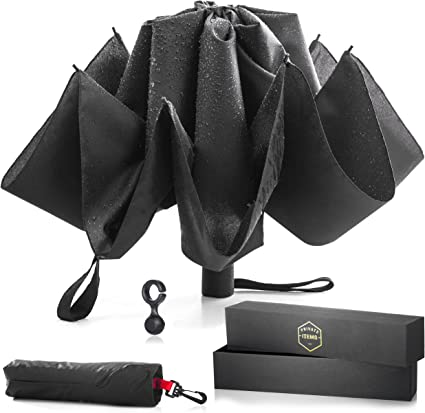 With Waterproof Can Upside Down Reversible Umbrella Automatic Open And Close
