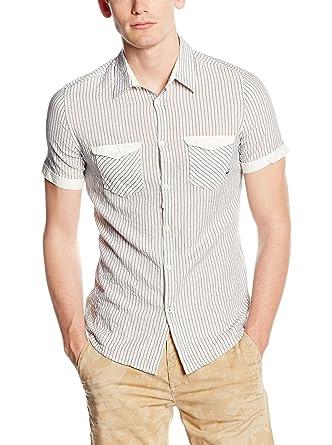 GAS Camisa Hombre Migo Gris Claro L: Amazon.es: Ropa y accesorios