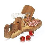 Aperi fun - Taglia-salame di legno marrone, 28,3x 16x 10,3cm