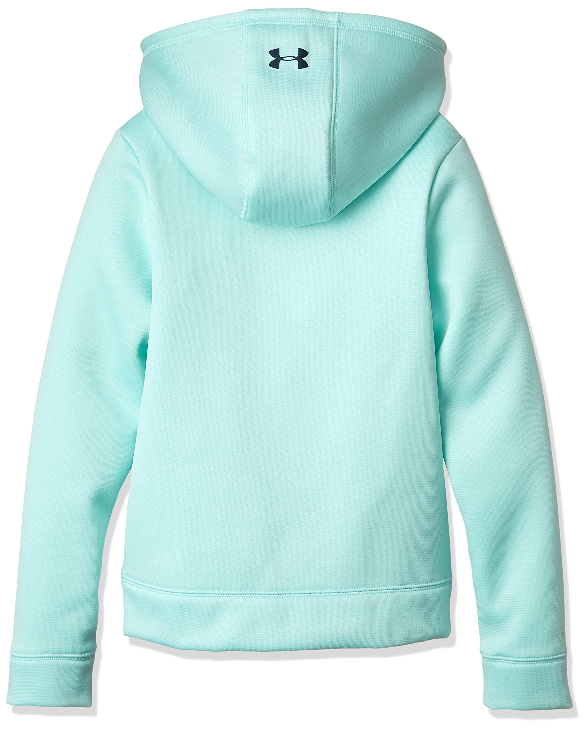 Under Armour Girls Armour Fleece Wordmark Hoodie, Blue Infinity/Blue, Small / 8 Big Kids by Under Armour (Image #2)