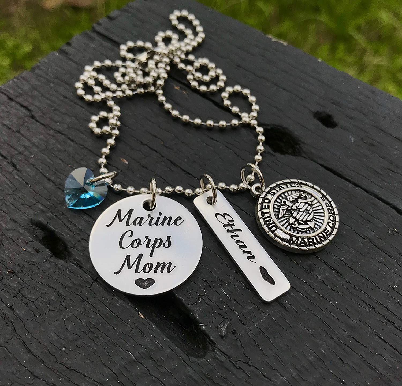 Marines Mom Necklace Marine Mom Gift chain Marines Mom Present Marines Jewelry