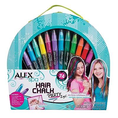 ALEX Spa Hair Chalk Party 2 Go: Toys & Games